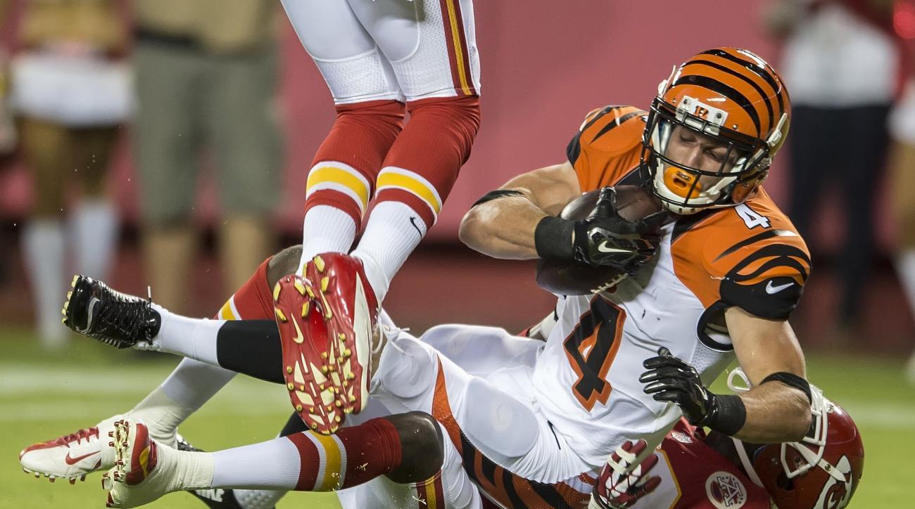 Conner Vernon Jeremy Johnson Zach Minter Cincinnati Bengals waived NFL