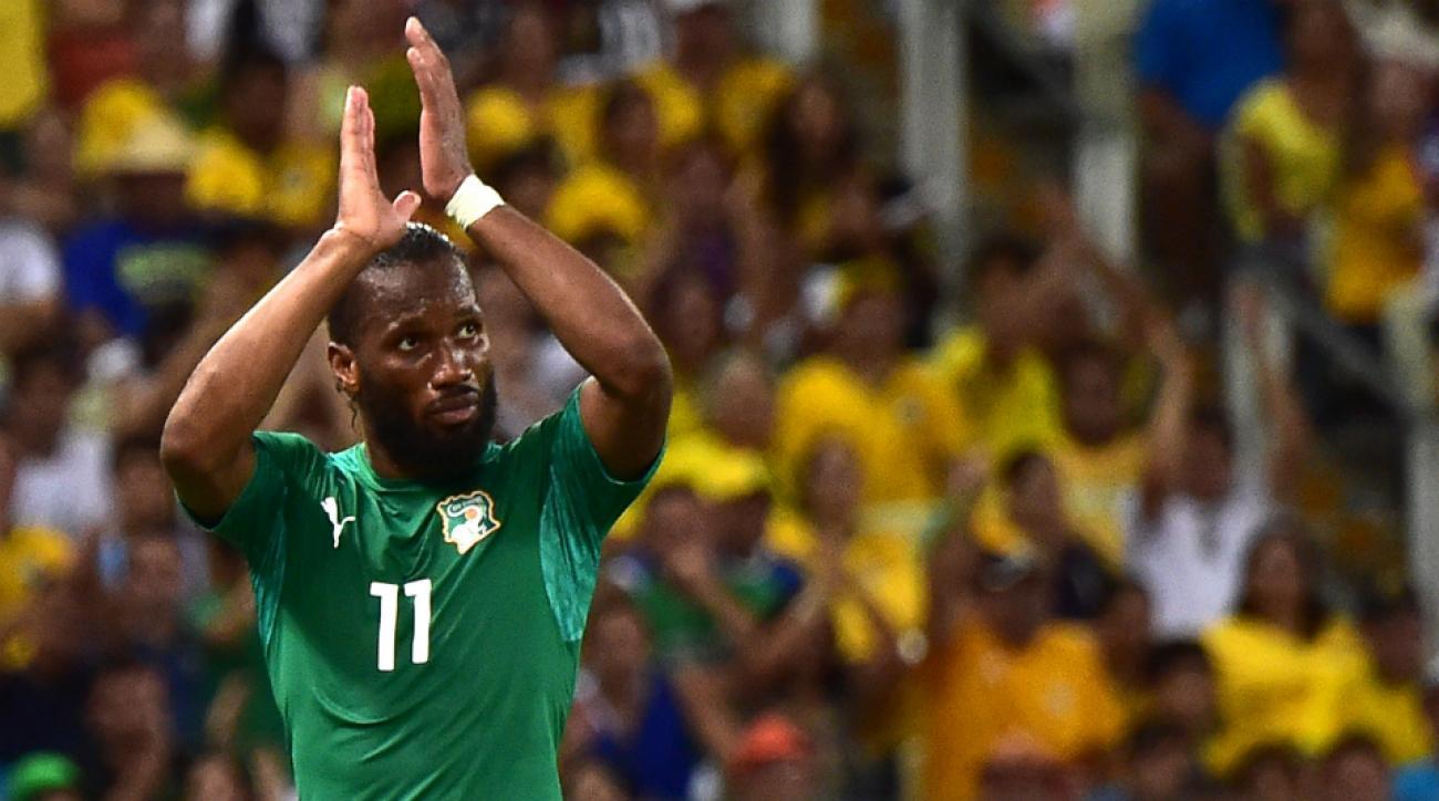 Ivory Coast's Didier Drogba retires international play