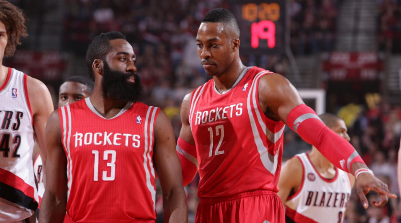 James Harden and Dwight Howard eat separately from Rockets