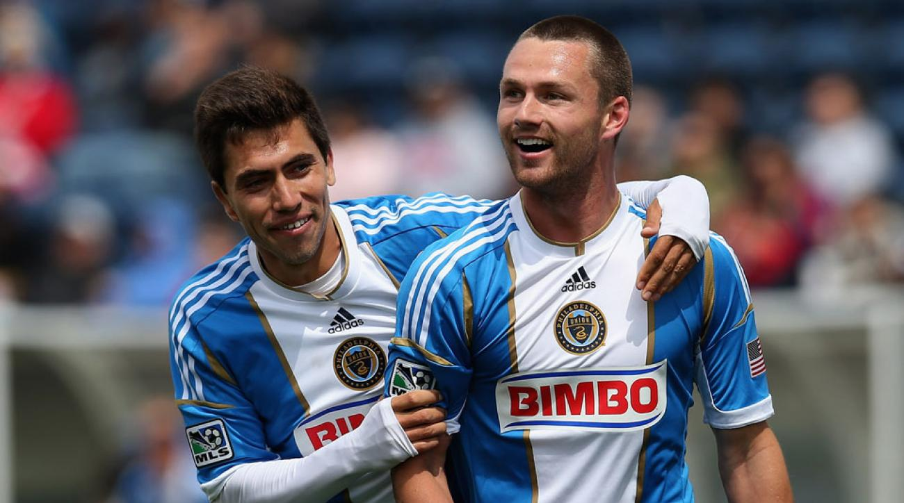 Jack McInerney and Michael Farfan during a Montreal Impact game.