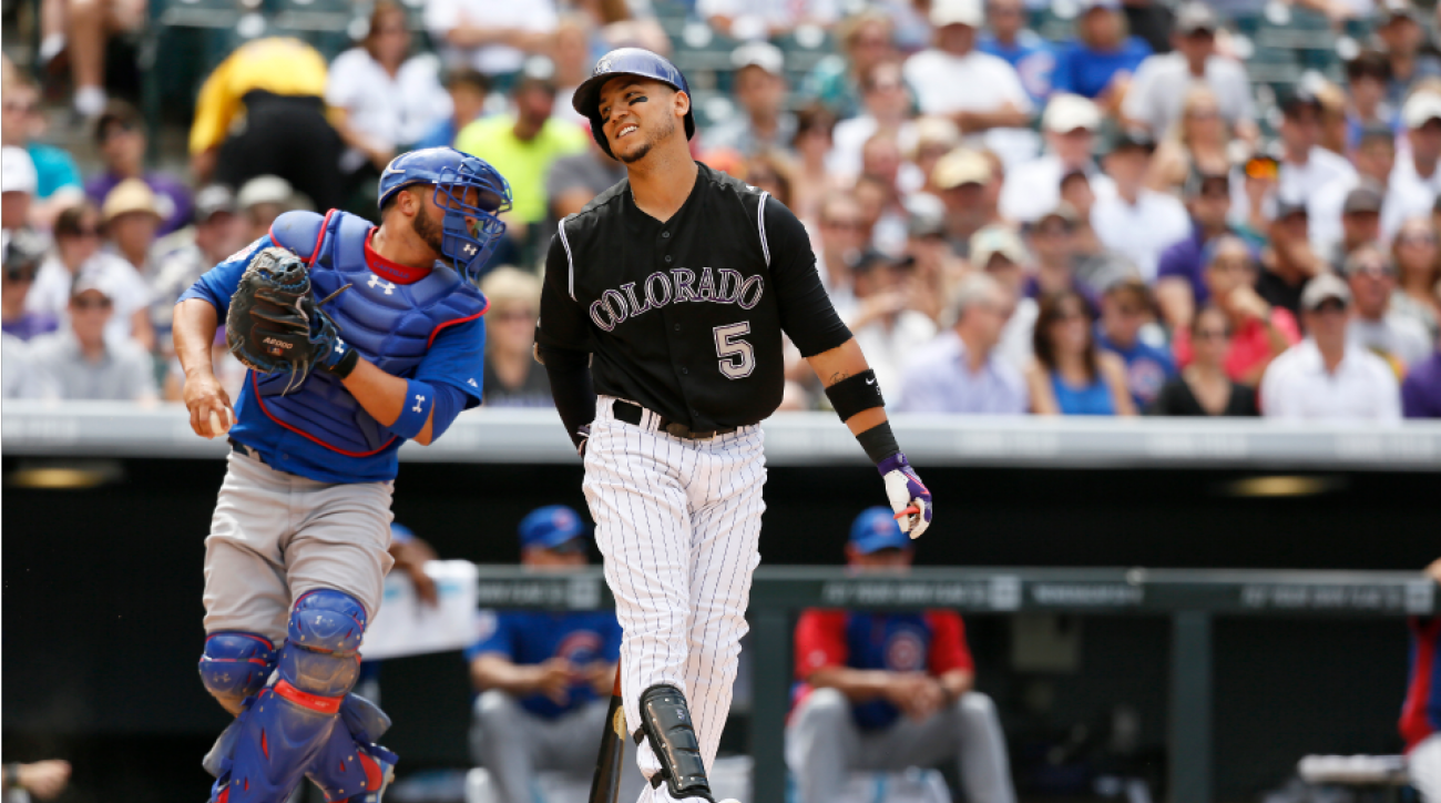 Carlos Gonzalez knee injury
