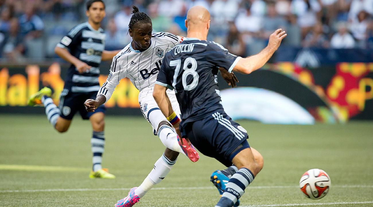 Darren Mattocks scored for the fourth time in the last five games to help the Vancouver Whitecaps beat Sporting Kansas City 2-0.