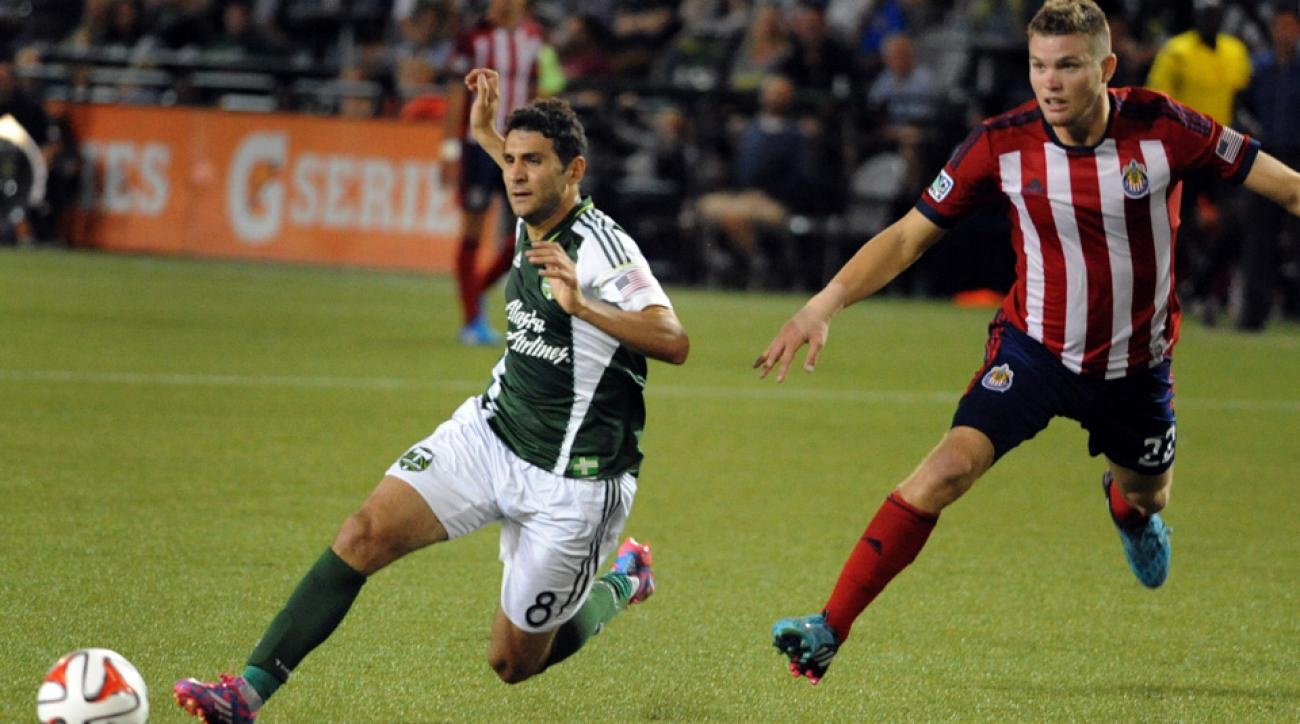 Diego Valeri scored his fourth goal in four games in the first 10 minutes and the Portland Timbers went on to beat struggling Chivas USA 2-0.