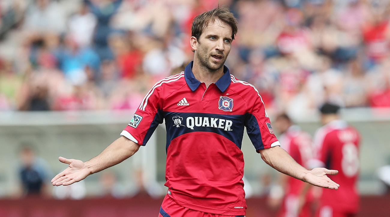 Mike Magee scored in the 38th minute to help the Chicago Fire improve to 4-5-13.