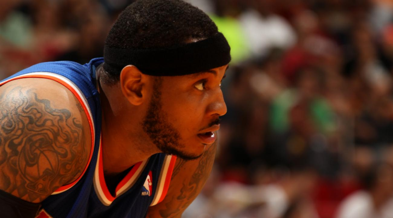 Knicks forward Carmelo Anthony doesn't expect to win title