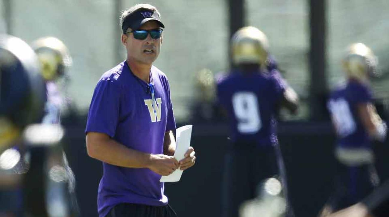 New Washington coach Chris Petersen looks to lead Huskies to new heights.