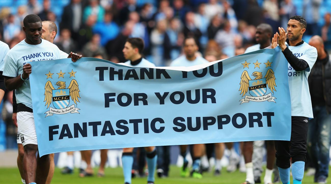 manchester city thanks fans win barclays premier league top of the table schedule fixtures