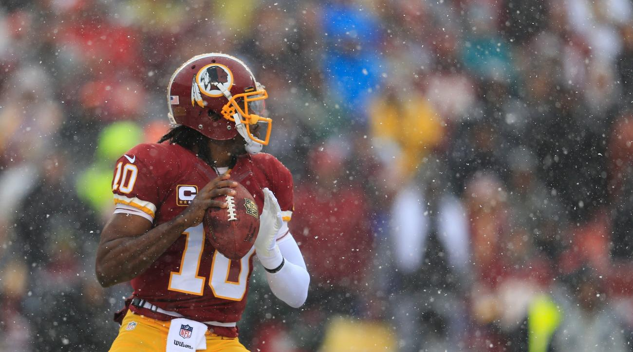 """Jay Gruden said he's seen """"a lot of good and some bad"""" from Robert Griffin III during training camp."""
