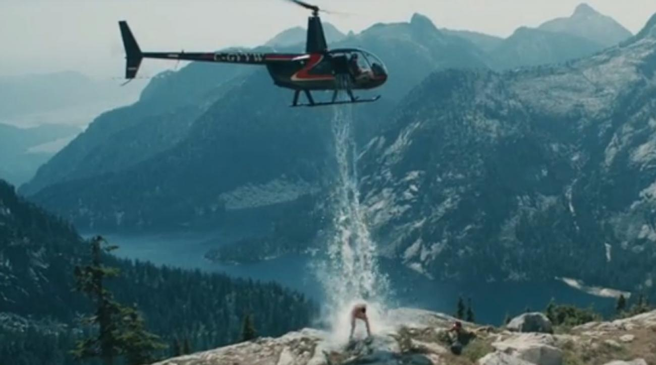 Paul Bissonnette takes the Ice Bucket Challenge with helicopters, glacier water