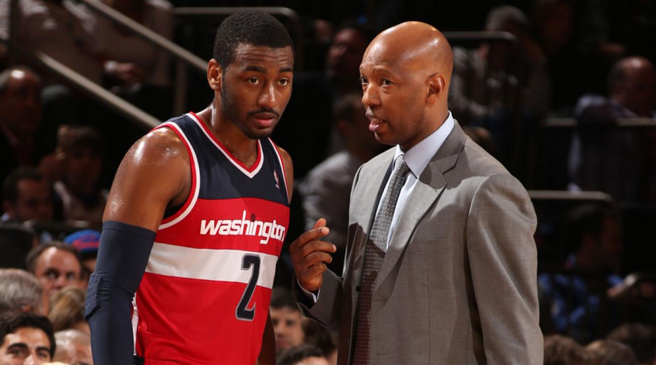 Wizards John Wall and Sam Cassell
