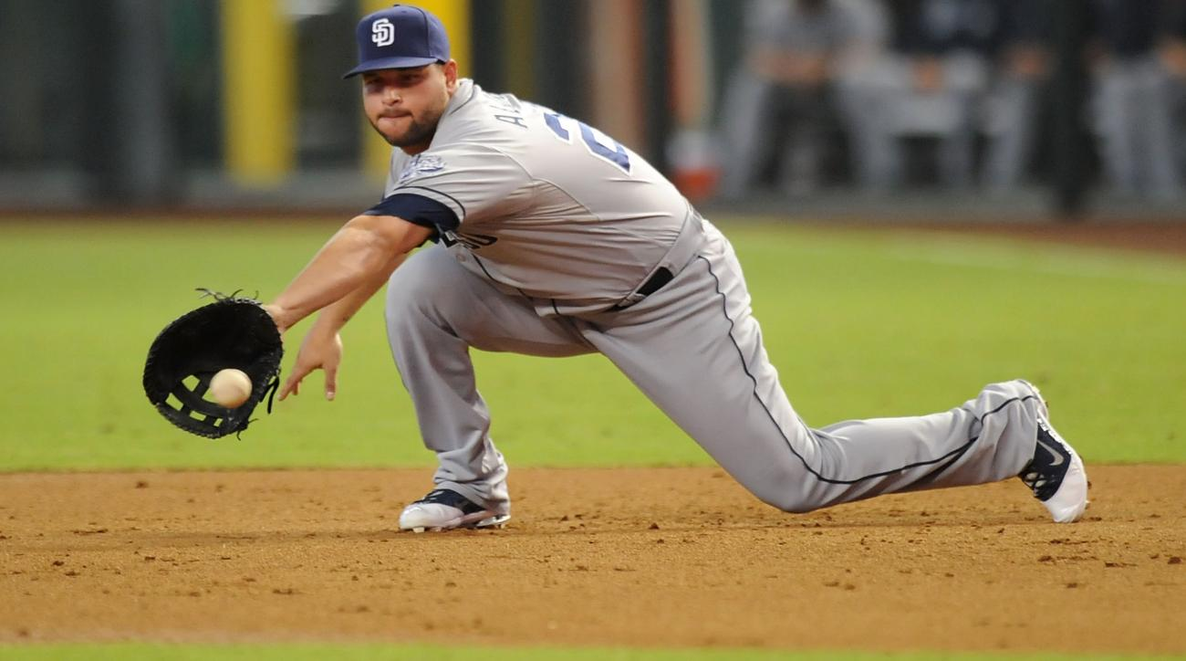 san diego Padres Yonder Alonso disabled list forearm strain