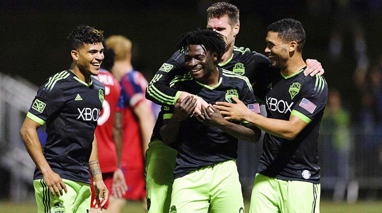 The Seattle Sounders ran rampant over the Chicago Fire in the U.S. Open Cup semifinal Wednesday night.