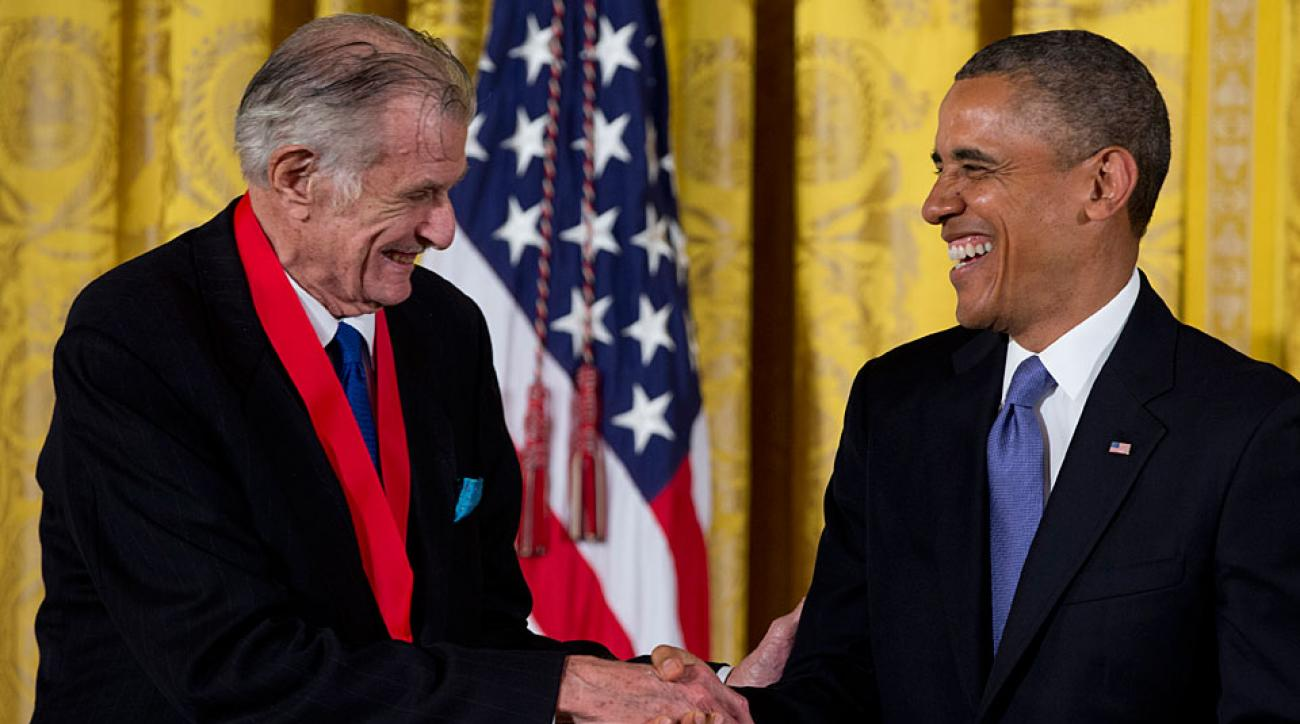 Frank Deford was given the 2012 National Humanities Medal by President Barack Obama in July 2013.
