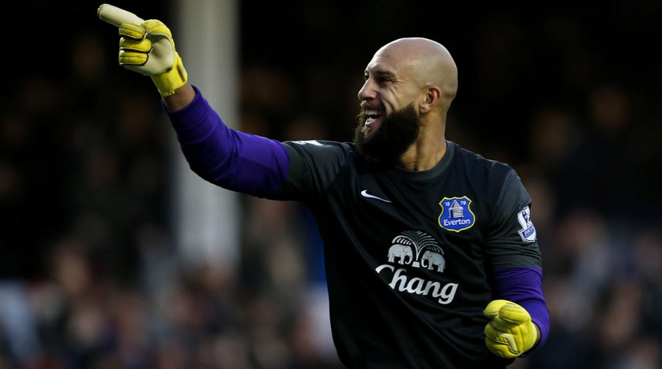Tim Howard and Everton will begin their Premier League campaign against Leicester City.