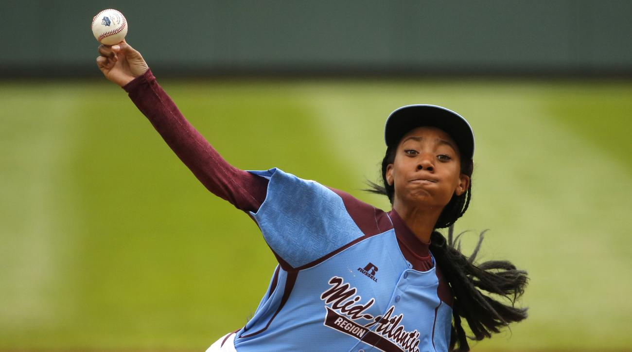 Mo'Ne Davis became the first girl to throw a shutout in the Little League World Series Friday.