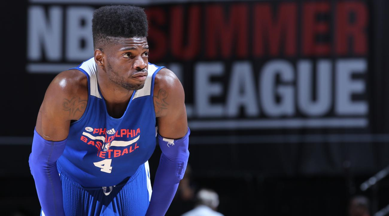 """Nerlens Noel credits Rajon Rondo as his """"biggest helper"""" during his recovery from an ACL tear."""