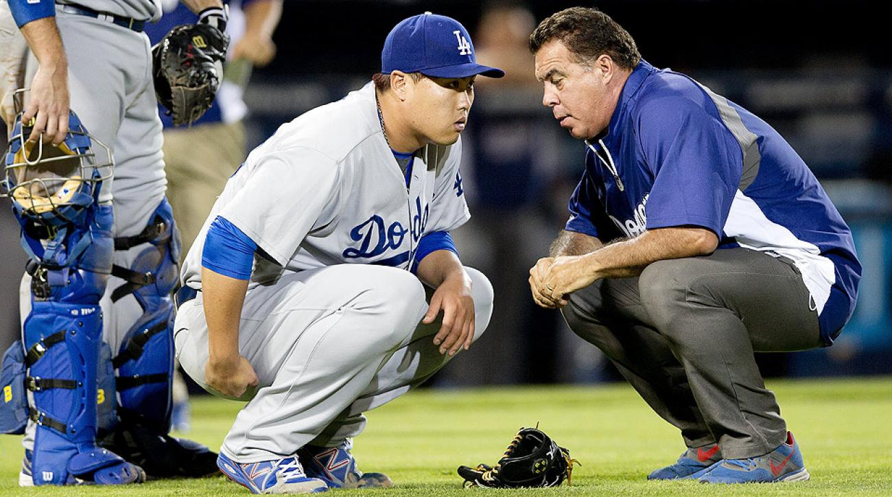 Dodgers left-hander Hyun-Jin Ryu was put on the disabled list with a strained right glute.