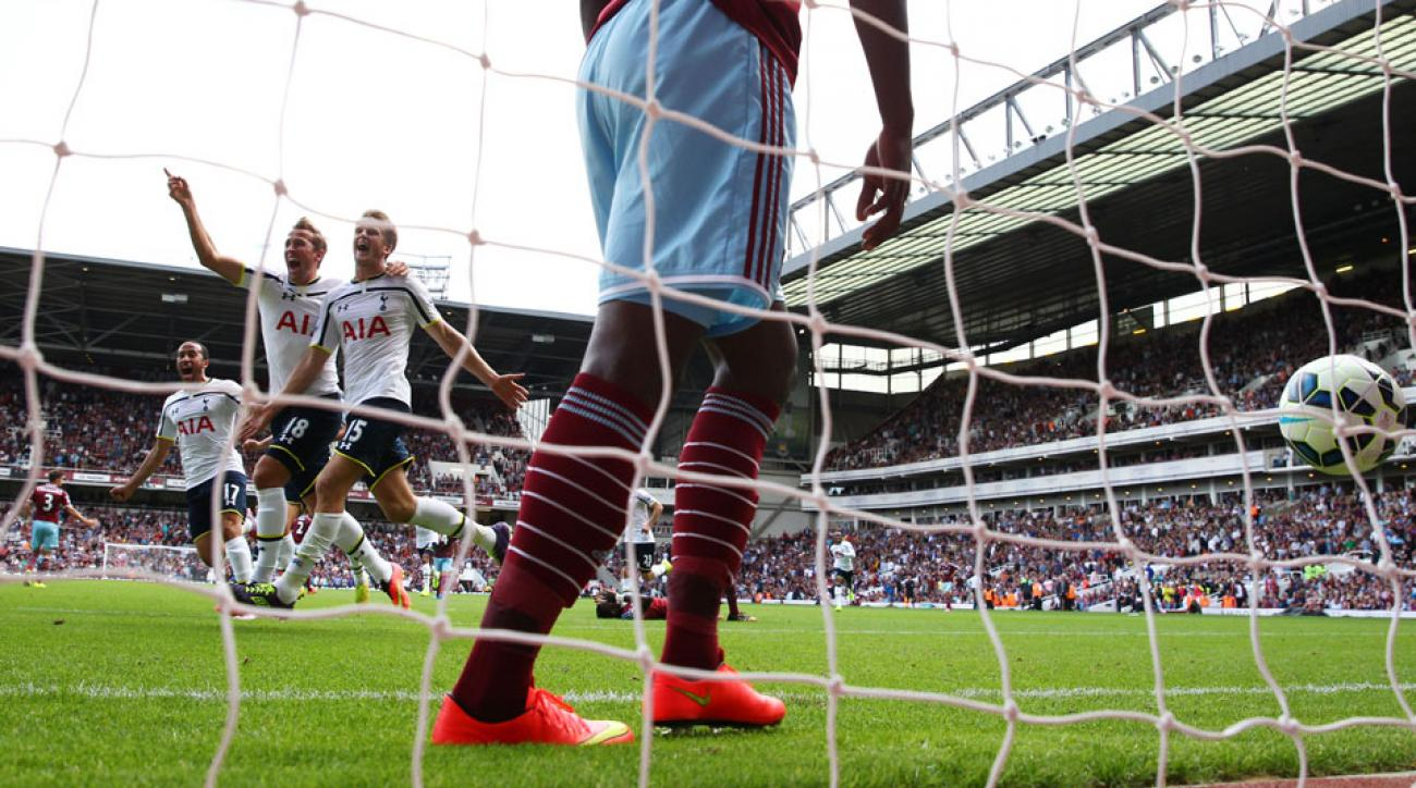 New Tottenham signing Eric Dier scored a late winner on his debut against West Ham United on opening day in the EPL.