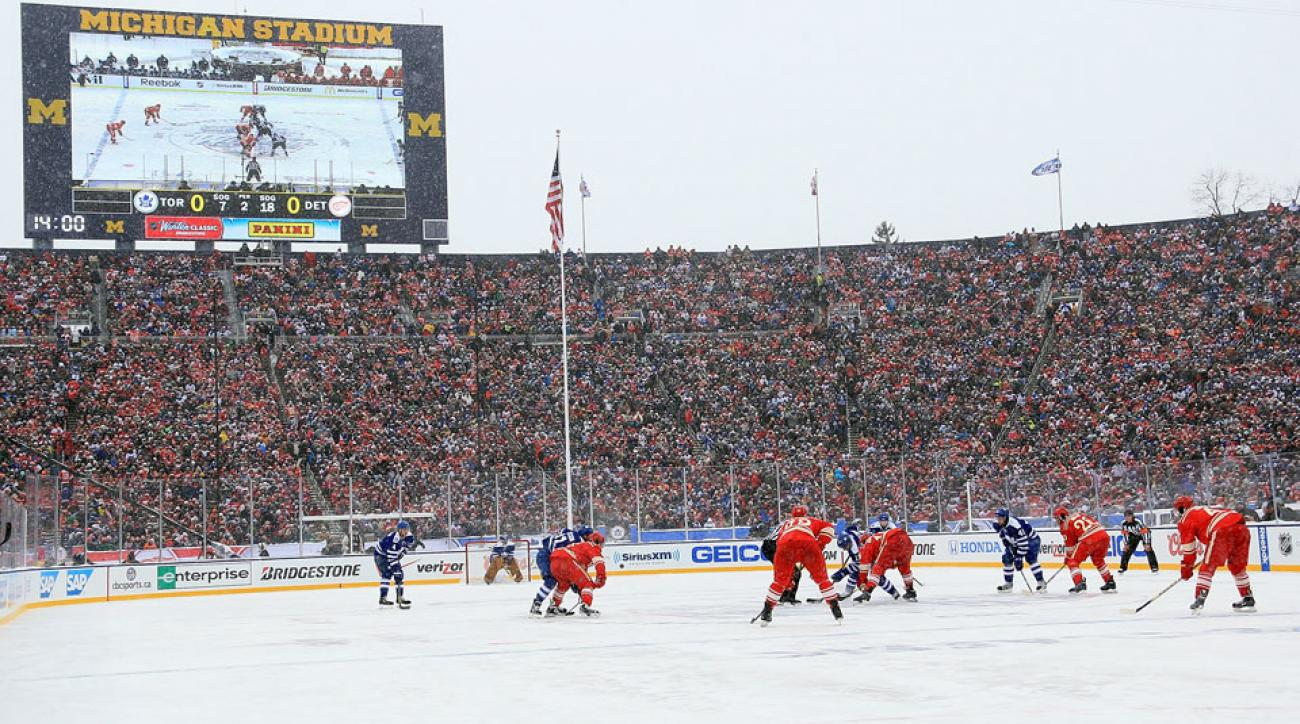 The Red Wings and Maple Leafs squared off in last season's Winter Classic in Ann Arbor, Michigan.