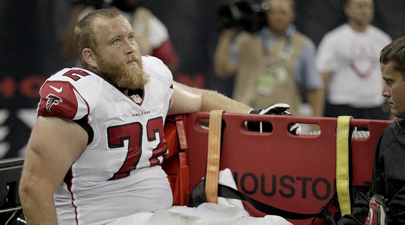 Falcons' Sam Baker out for season