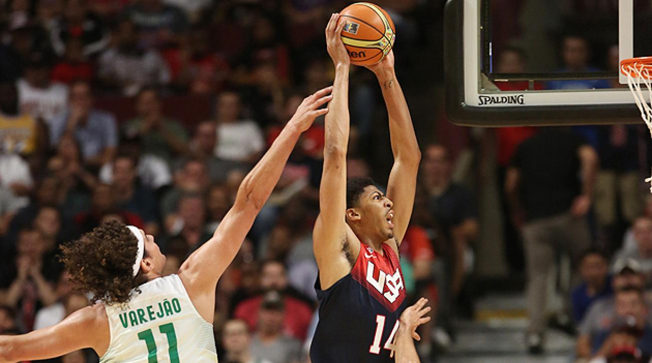 Anthony Davis starred in front of his hometown crowd with 20 points in Team USA's 95-78 win against Brazil.