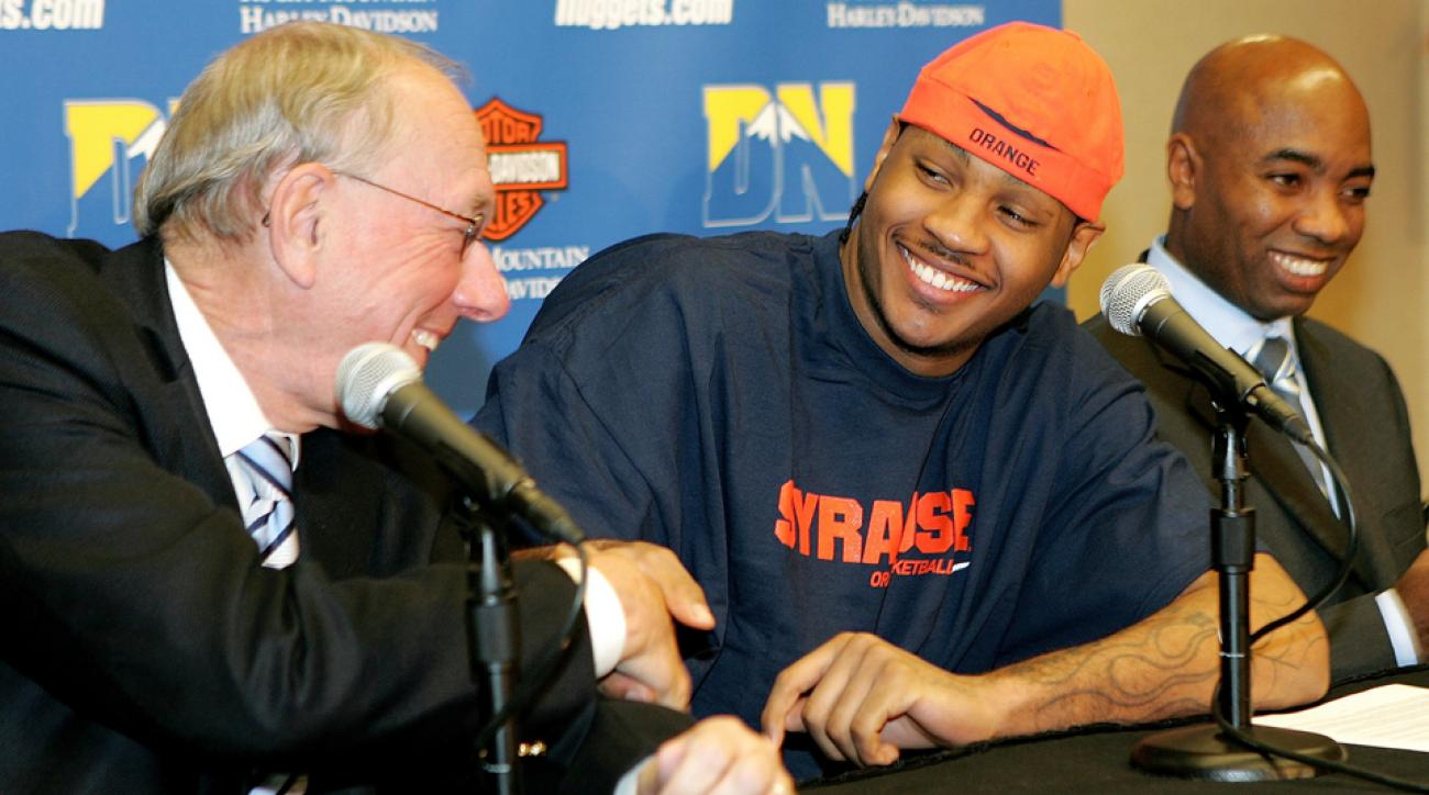 Jim Boeheim Carmelo Anthony