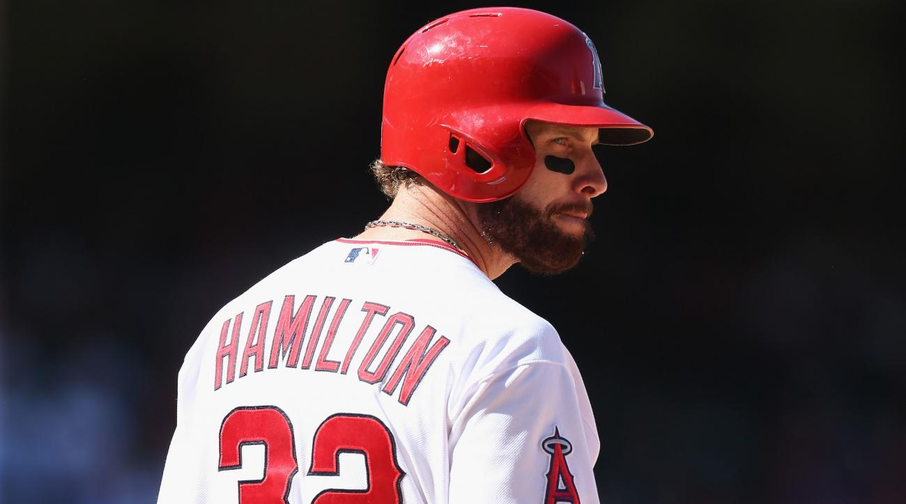 Los Angeles Angels of Anaheim Josh Hamilton sitting out