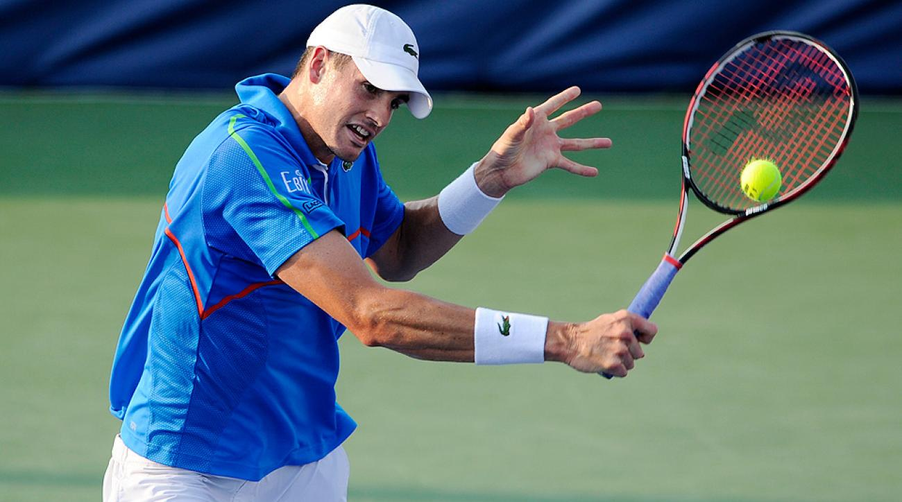 John Isner, shown here at the Citi Open on July 30, defeated fellow American Bradley Klahn in the second round of the Winston-Salem Open.