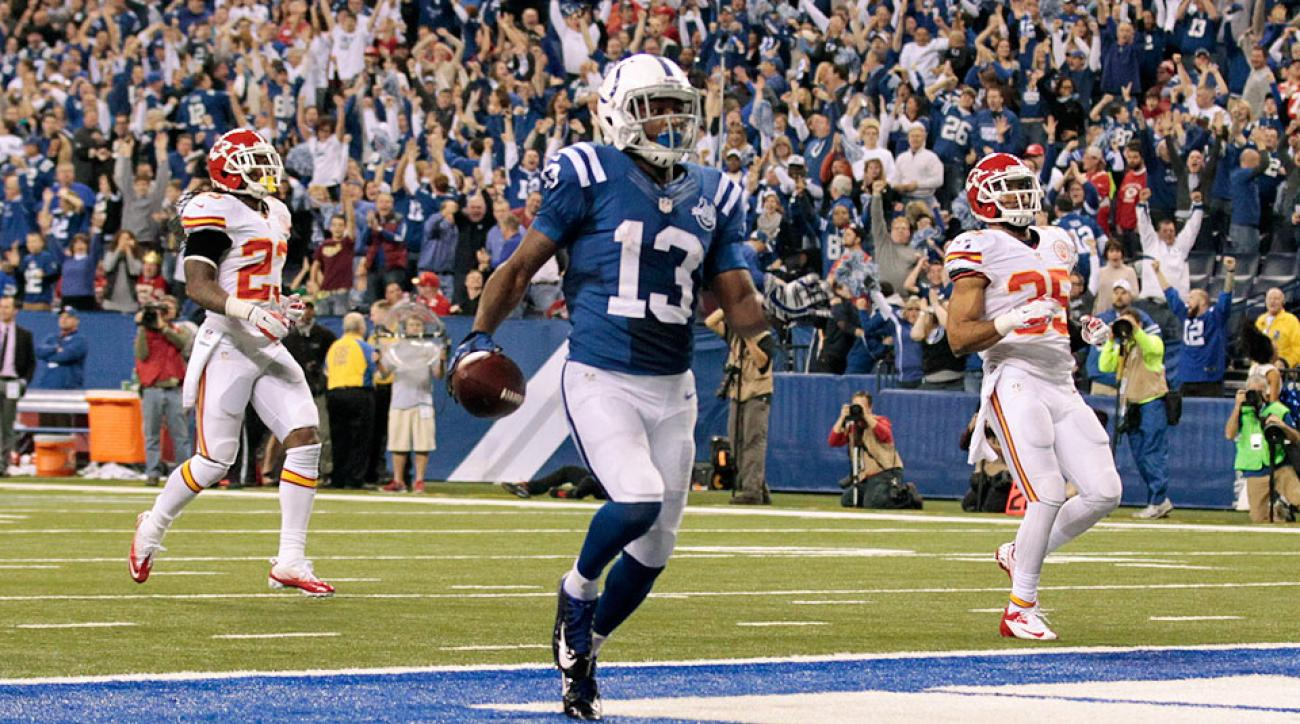T.Y. Hilton during a 2014 playoff game against the Chiefs
