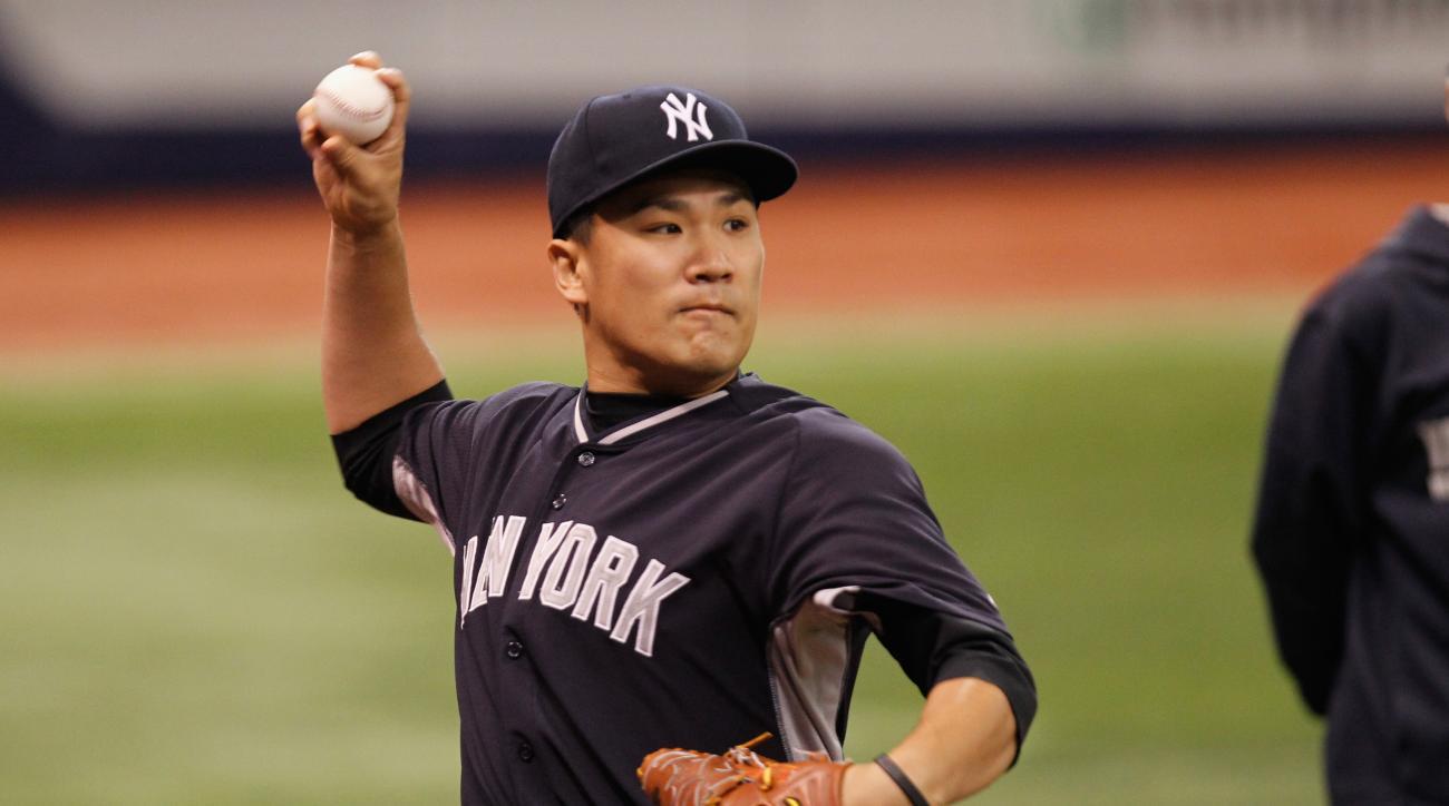 Masahiro Tanaka said his elbow is fine.