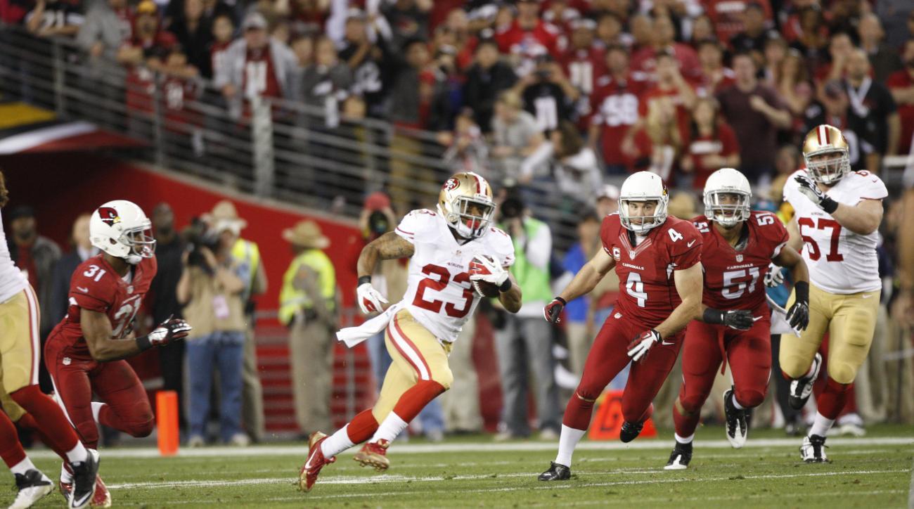 San Francisco 49ers running back LaMichael James will make his preseason debut Sunday.