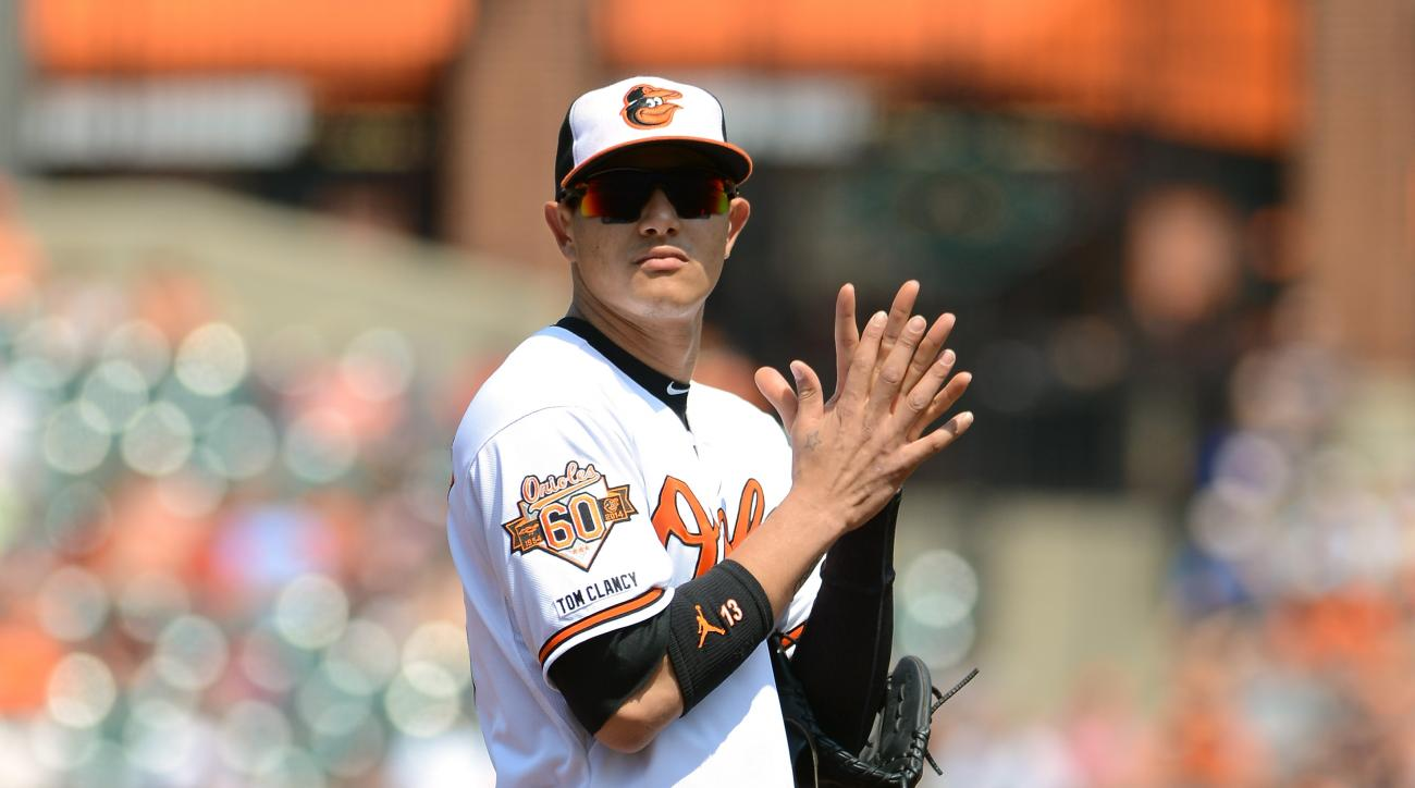 Manny Machado Baltimore Orioles right knee sprain