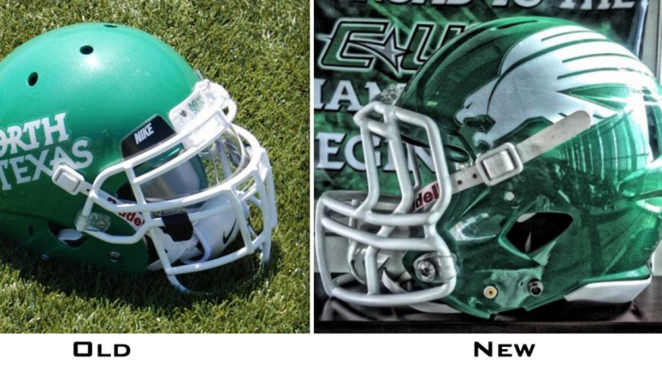 North Texas has new helmets this season