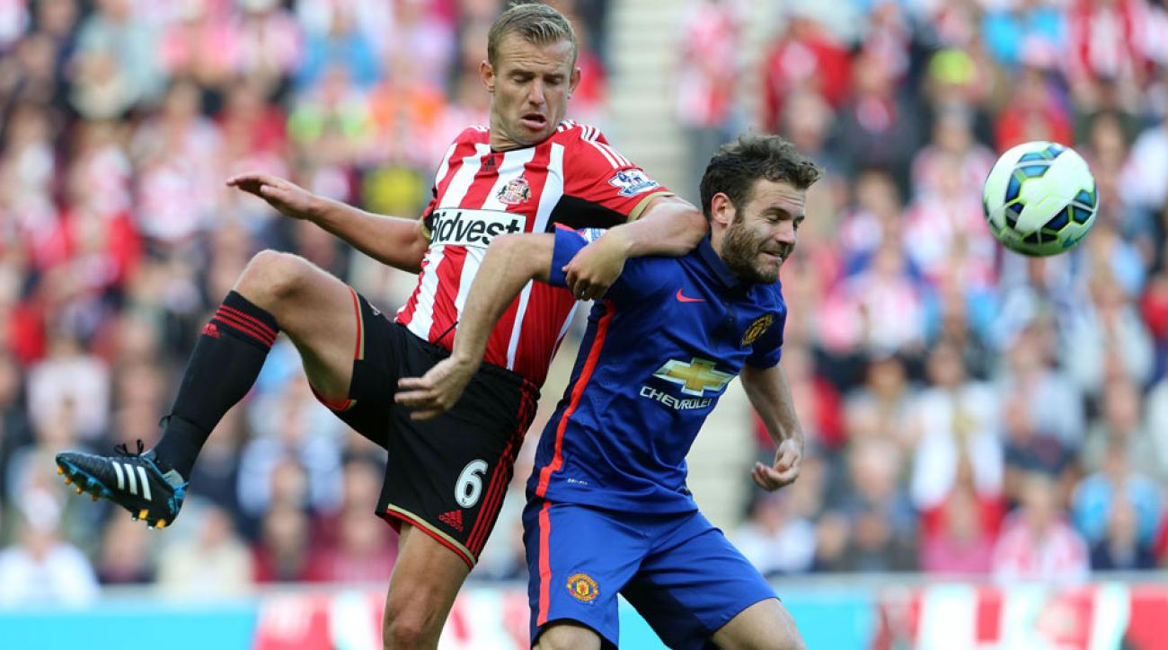 Juan Mata couldn't help Manchester United get its first win of the season as the Red Devils draw 1-1 with Sunderland at the Stadium of Light.
