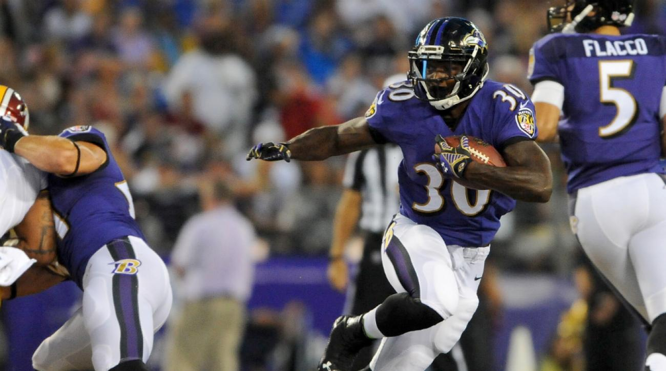 Ravens' Bernard Pierce fine after concussion testing