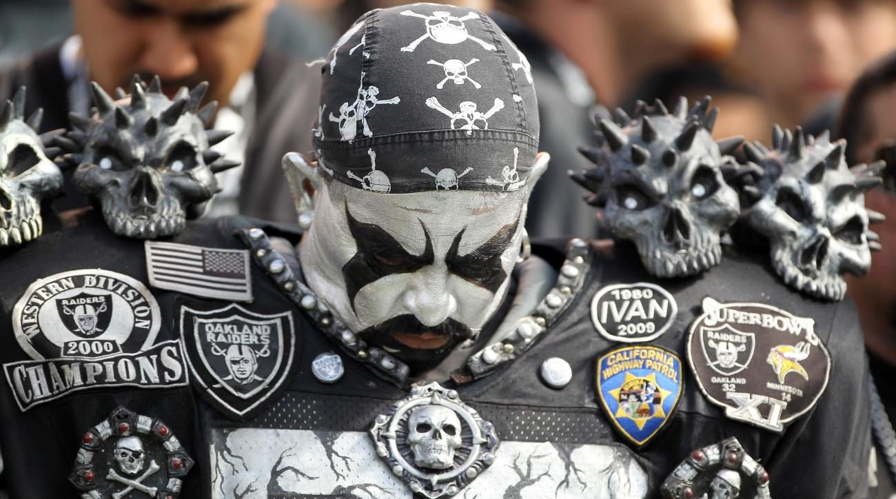 Oakland Raiders least-desirable NFL team