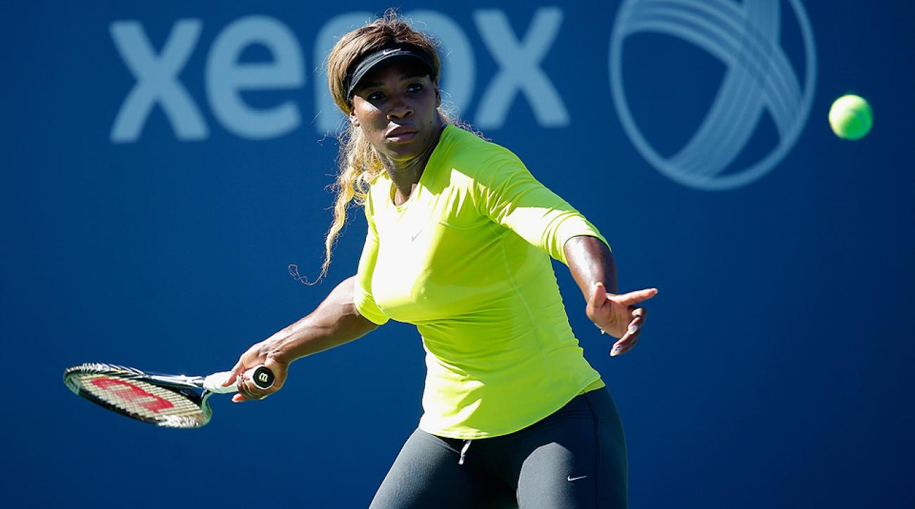 Serena Williams begins her 2014 U.S. Open against American Taylor Townsend