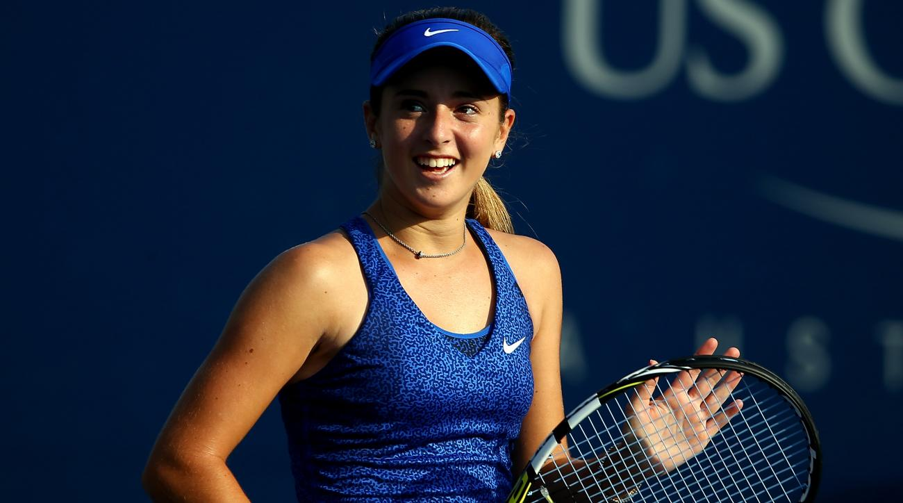 Catherine CiCi Bellis Dominika Cibulkova 2014 U.S. Open