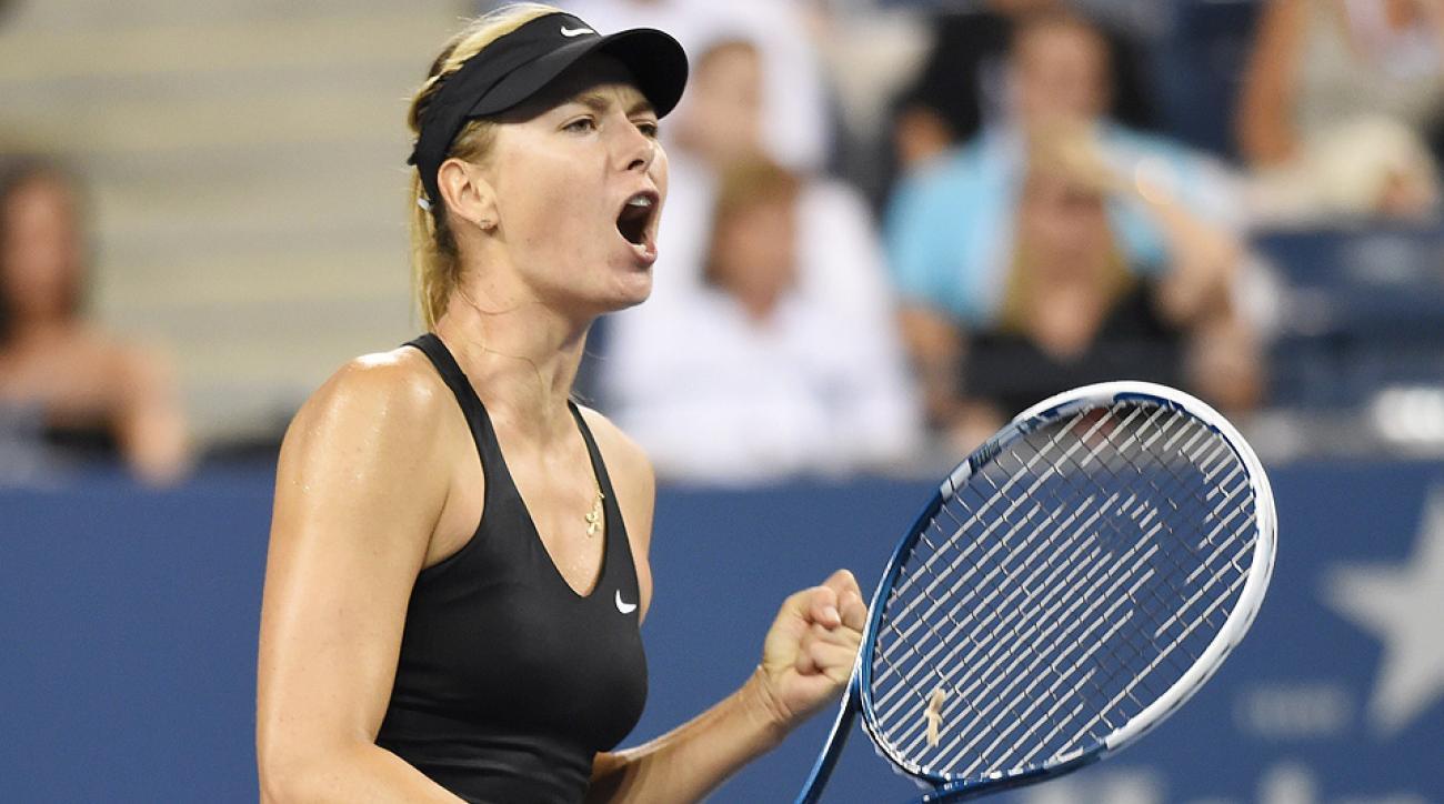 Maria Sharapova defeated Maria Kirilenko to advance to the second round of the U.S. Open.