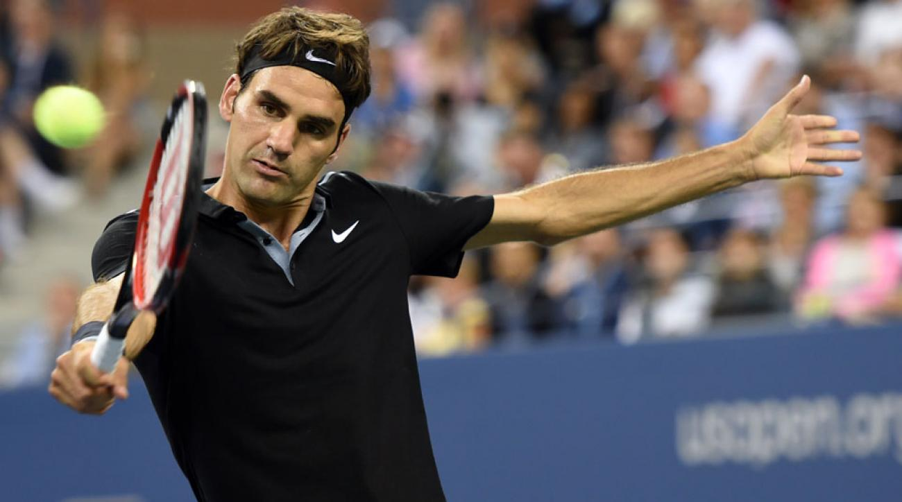 Roger Federer advanced to the second round of the U.S. Open with a win over Australia's Marinko Matosevic on Tuesday night.