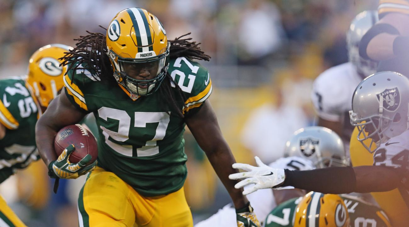 Eddie Lacy green bay packers running back lead nfl in rushing