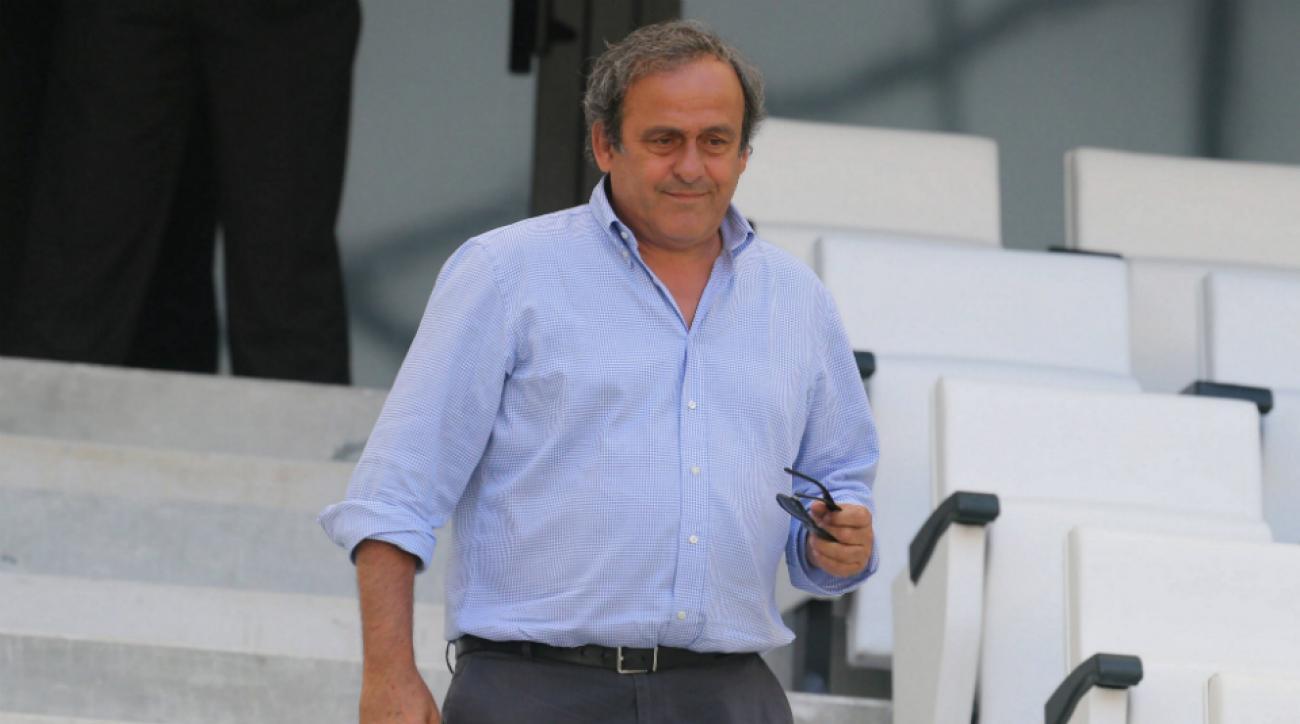 Michel Platini won't challenge Sepp Blatter