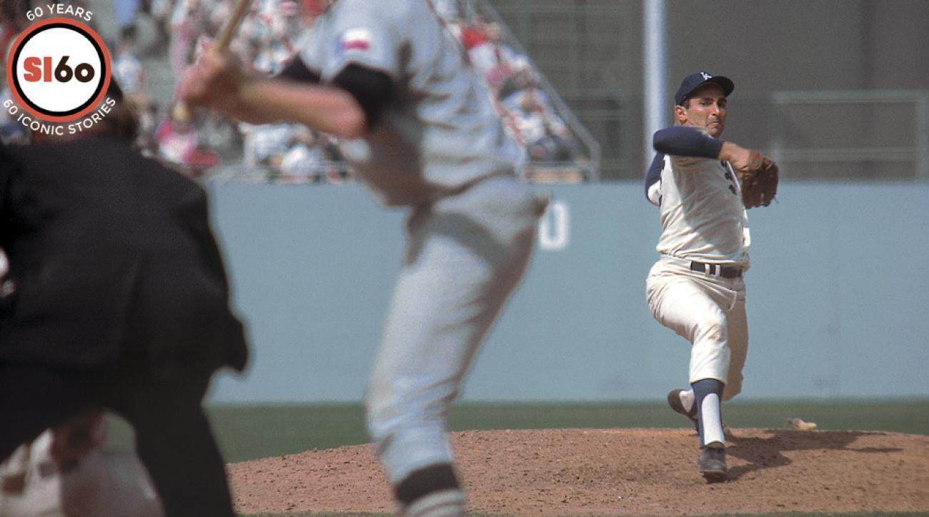 Sandy Koufax, the youngest person elected into the Baseball Hall of Fame, was the first pitcher to throw four no-hitters and win three Cy Young Awards.