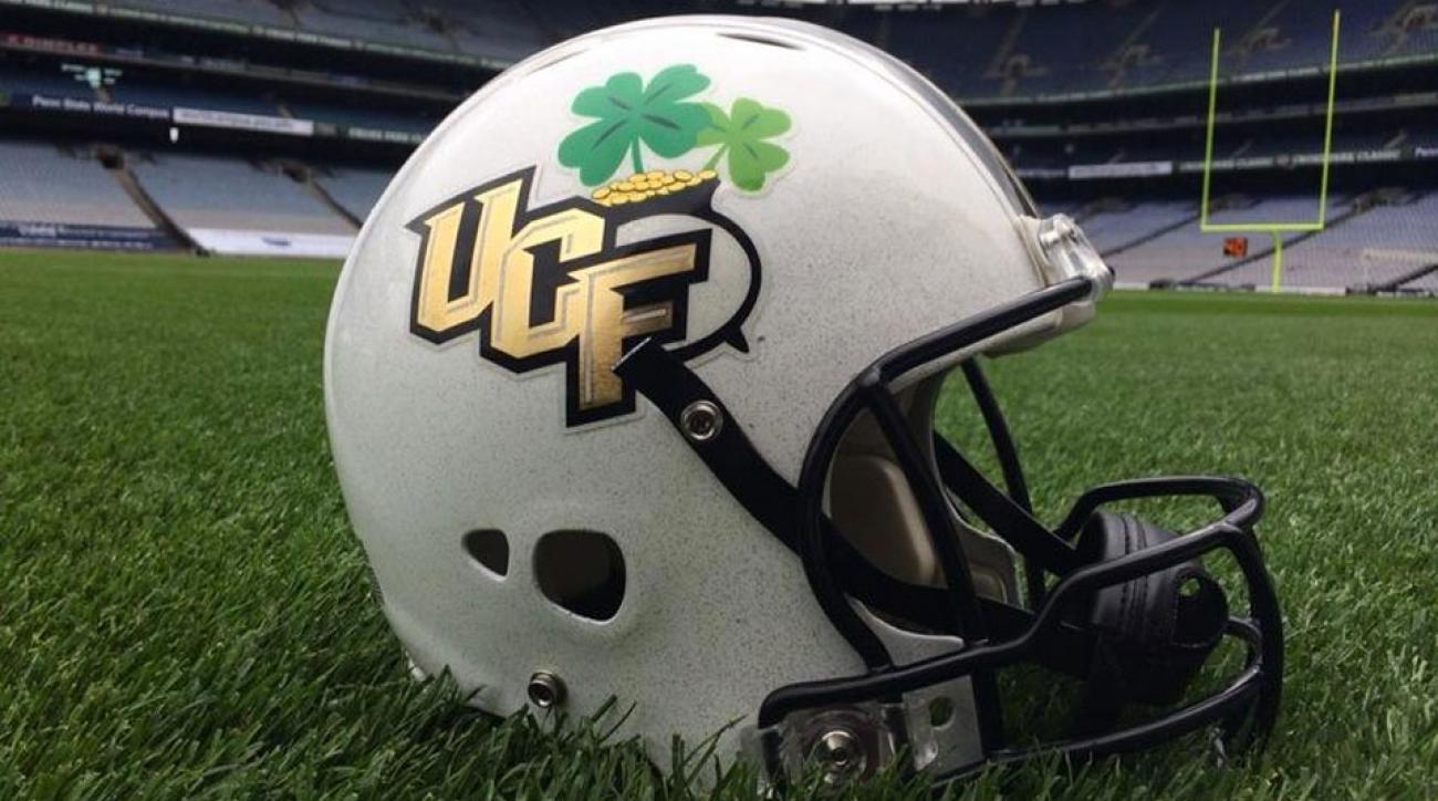 UCF new helmet for game in Dublin, Ireland