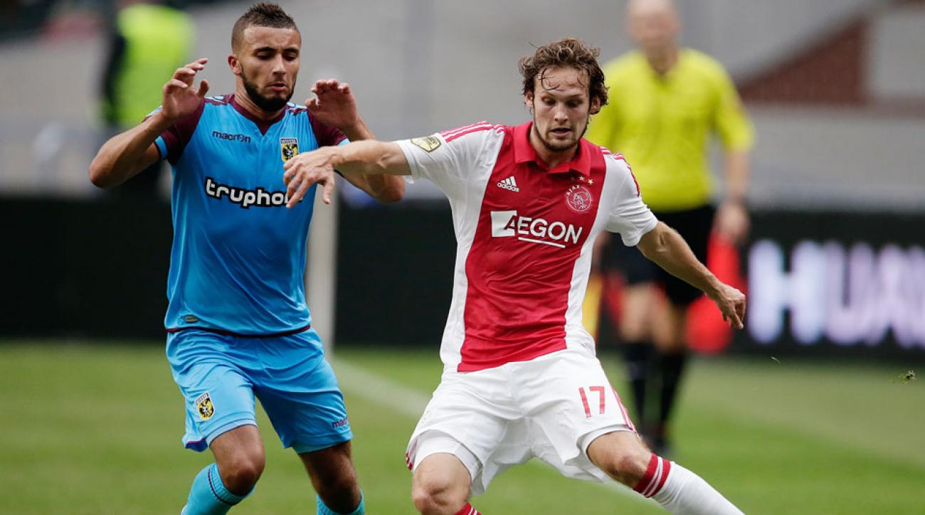 The versatile Daley Blind plays for Ajax, and helped the Netherlands to a third-place finish at the 2014 FIFA World Cup.