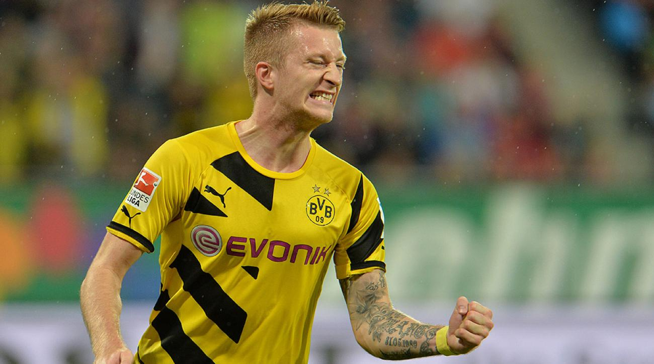 Marco Reus had a productive day against FC Augsburg with a goal and an assist for Borussia Dortmund.