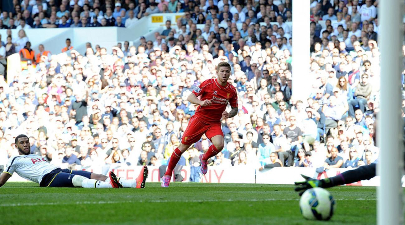 Alberto Moreno scored the last of Liverpool's three goals in a big win at White Hart Lane.