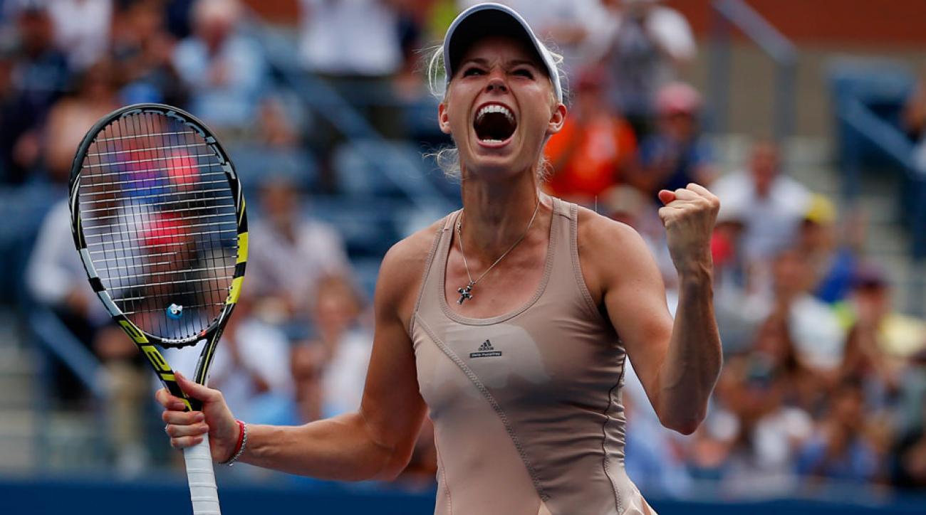 Caroline Wozniacki defeated No. 5 Maria Sharapova at the U.S. Open on Sunday afternoon.