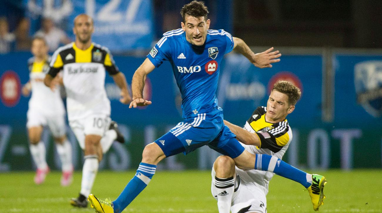 Ignacio Piatti, a newly designated player, scored his first two goals for the Montreal Impact against the Columbus Crew.