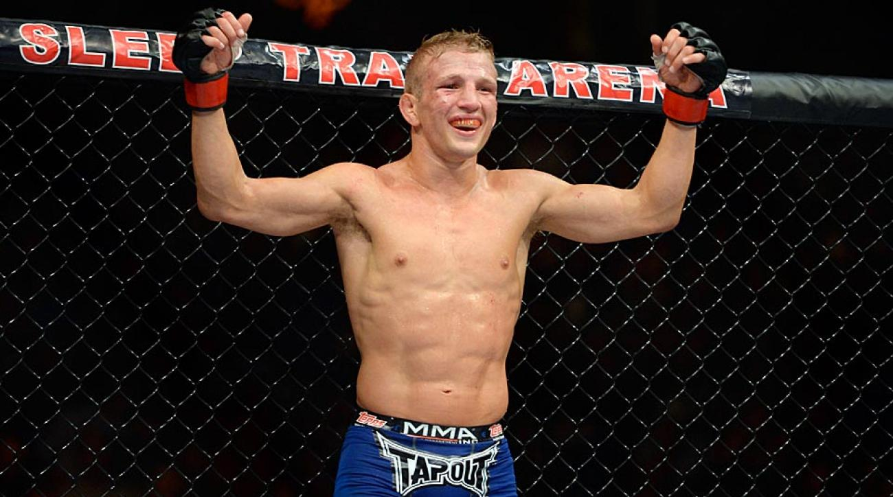 TJ Dillashaw landed 156 of 461 punches in a five-round KO of Joe Soto at UFC 177 in Sacramento, Calif.